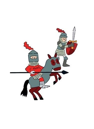 Djeco Djeco Resim Boyama Şablonları / Knights Pembe